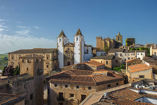 Old town of Caceras, Spain stock photo
