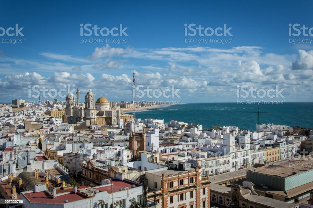Old town of Cadiz, Andalusia, Spain stock photo