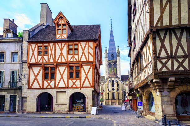 Old town of Dijon, Burgundy, France stock photo