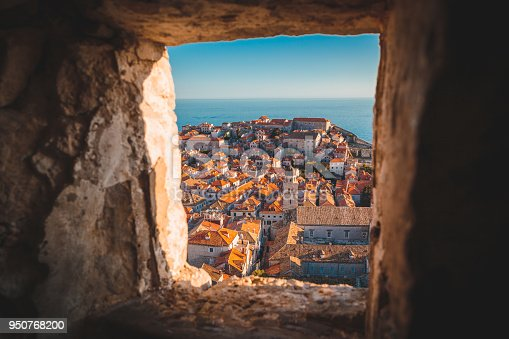 istock Old town of Dubrovnik at sunset, Dalmatia, Croatia 950768200