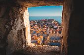 Old town of Dubrovnik at sunset, Dalmatia, Croatia