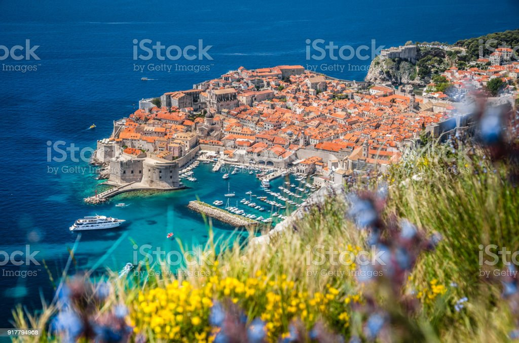 Old town of Dubrovnik in summer, Dalmatia, Croatia stock photo