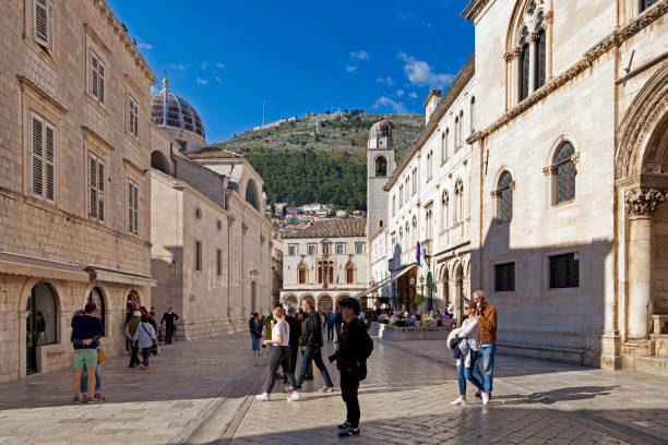 Old town of Dubrovnik stock photo