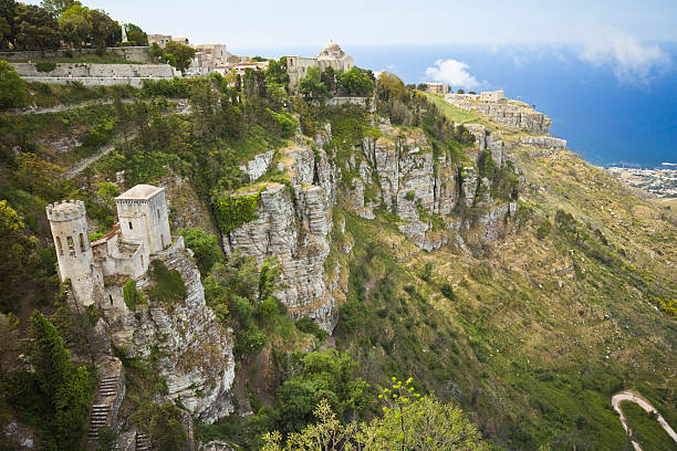 Alte Stadt Erice auf Sizilien (Italien – Foto