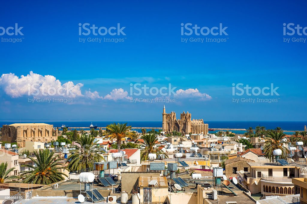 Old town of Famagusta (Gazimagusa), Cyprus. High elivated view Old town of Famagusta (Gazimagusa), Cyprus. High elivated view. 2015 Stock Photo