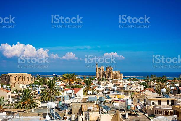 Old Town Of Famagusta Cyprus High Elivated View Stock Photo - Download Image Now