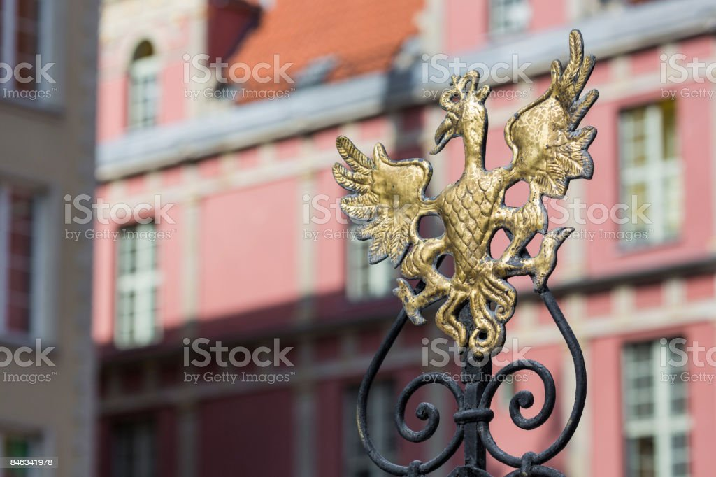 Old town of Gdansk,Poland. stock photo