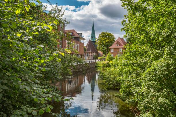 Altstadt von Hamburg Bergedorf mit Kirche – Foto