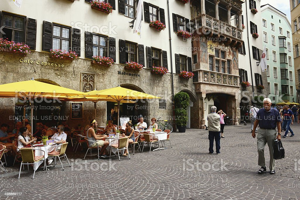 old town of Innsbruck with the Golden Roof house royalty-free stock photo