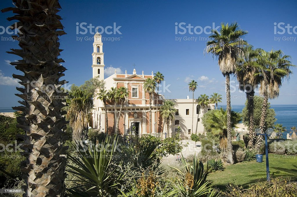Old town of Jaffa stock photo