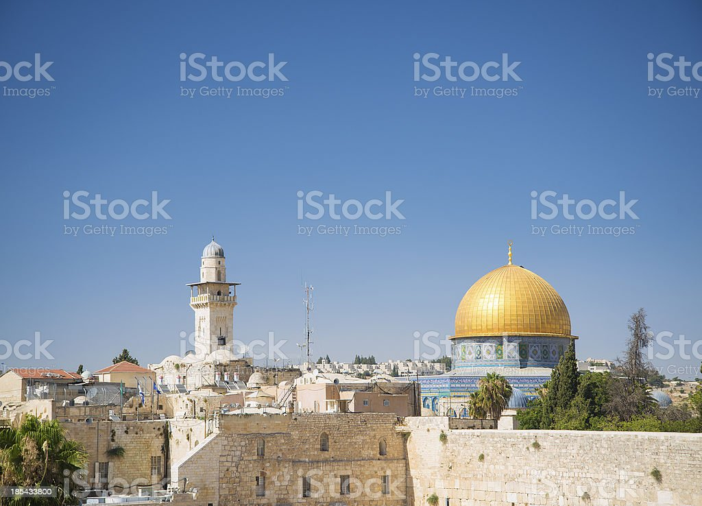old town of jerusalem israel royalty-free stock photo