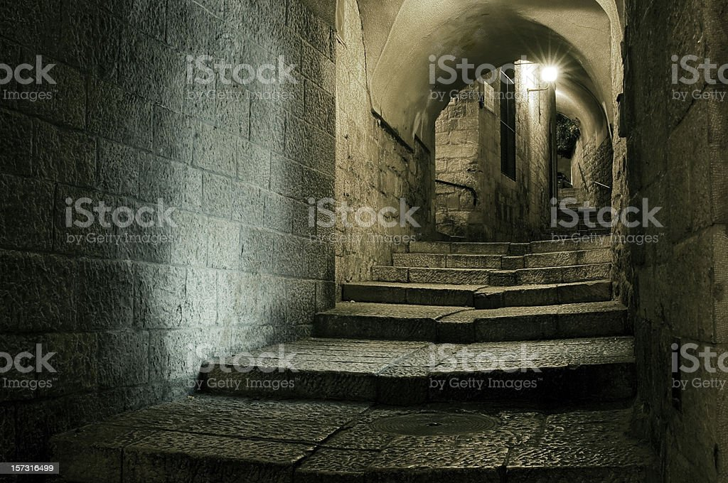 Old town of Jerusalem stock photo