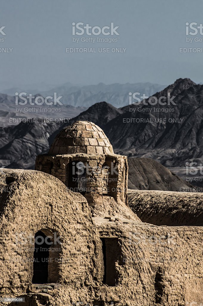 Old town of Kharanaq in Iran royalty-free stock photo