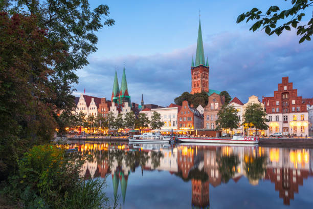 Old town of Lübeck stock photo