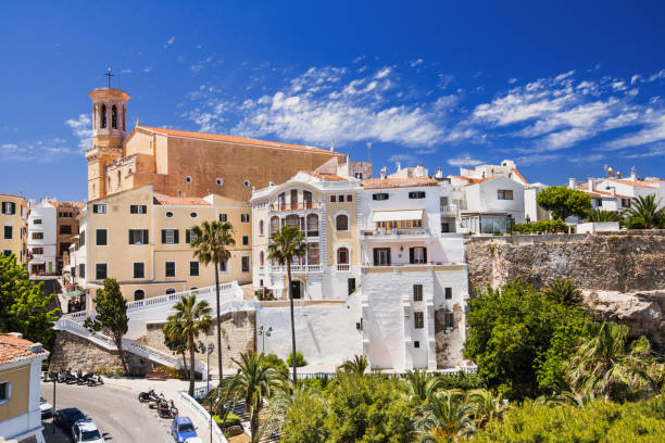 Casco antiguo de Mahón, Menorca, España - foto de stock