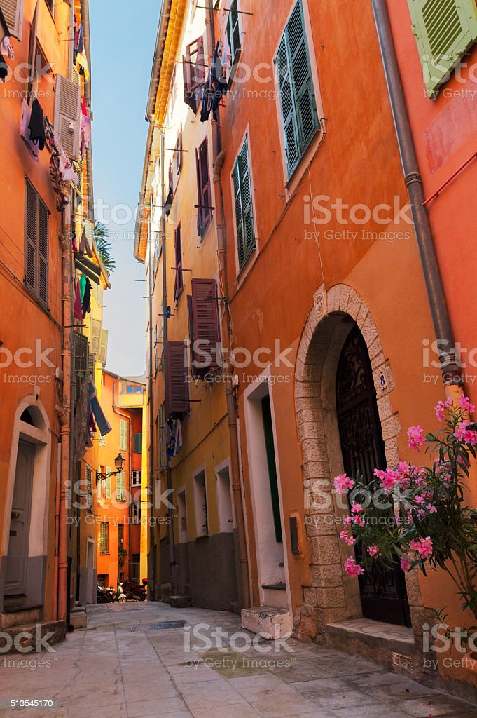 old town of Nice, France stock photo