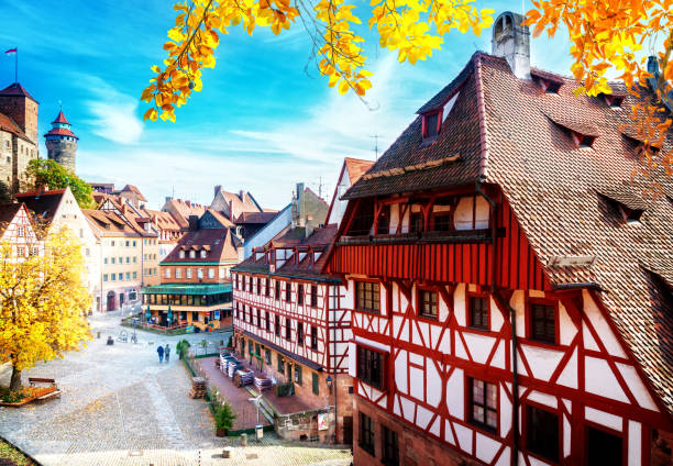 Old town of Nuremberg, Germany stock photo