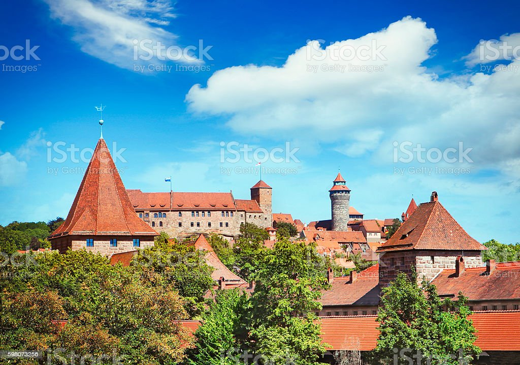 Old town of Nuremberg stock photo