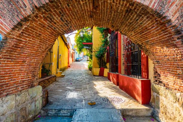 old town of Oaxaca, Mexico stock photo
