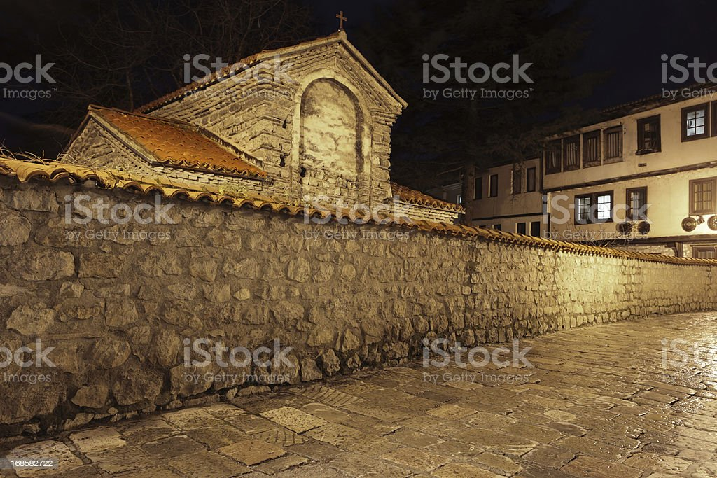Old town of Ohrid, Republic of Macedonia stock photo