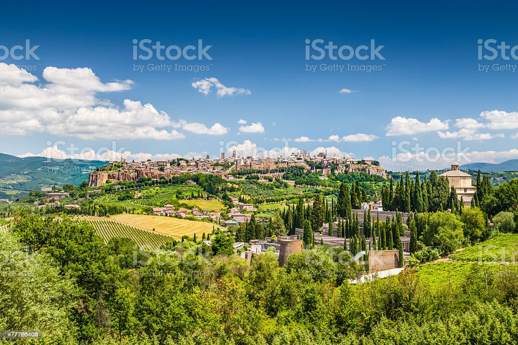 Old town of Orvieto, Umbria, Italy stock photo