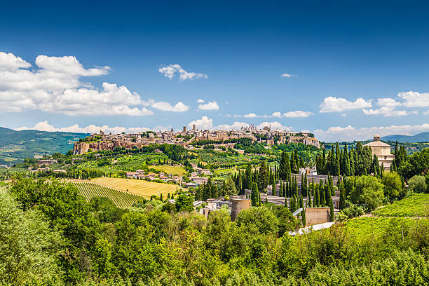 Old town of Orvieto, Umbria, Italy Beautiful view of the old town of Orvieto, Umbria, Italy. tuff stock pictures, royalty-free photos & images