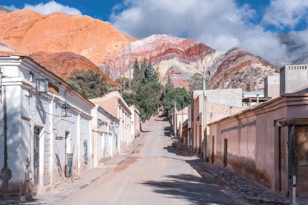 Old town of Purmamarca stock photo