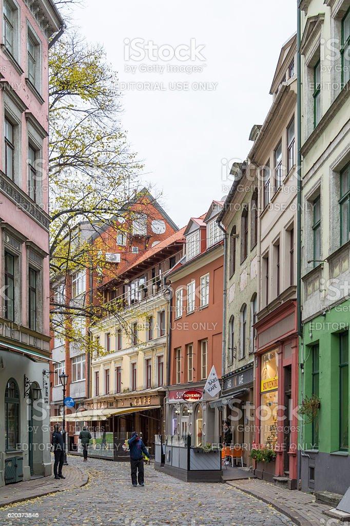 Antiga cidade de Riga, Latvia foto de stock royalty-free