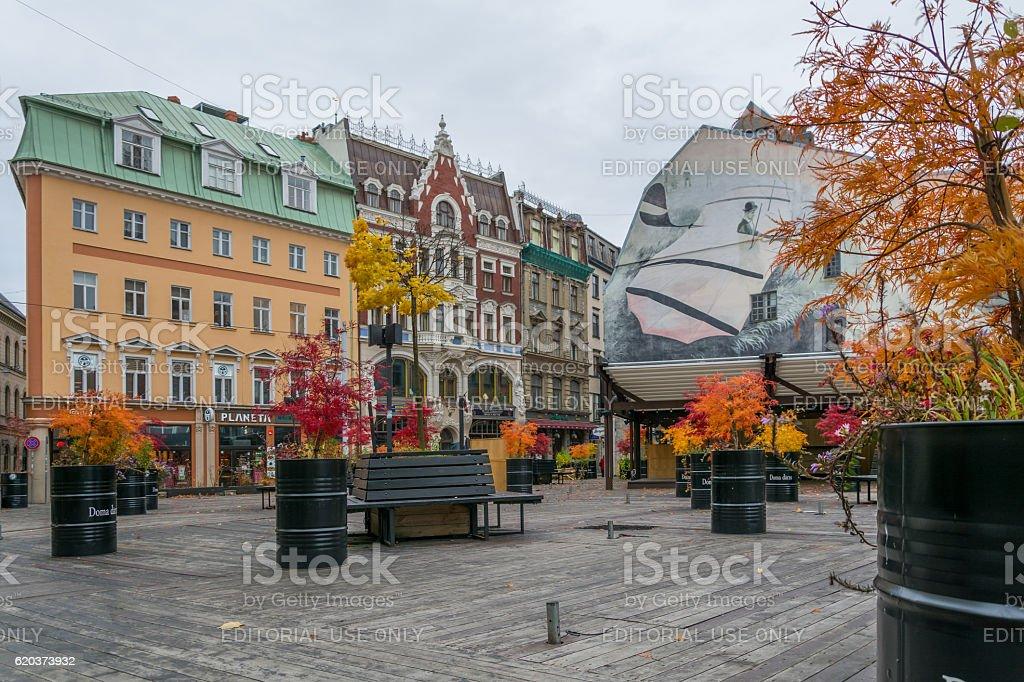 Stare miasto Riga, Łotwa zbiór zdjęć royalty-free