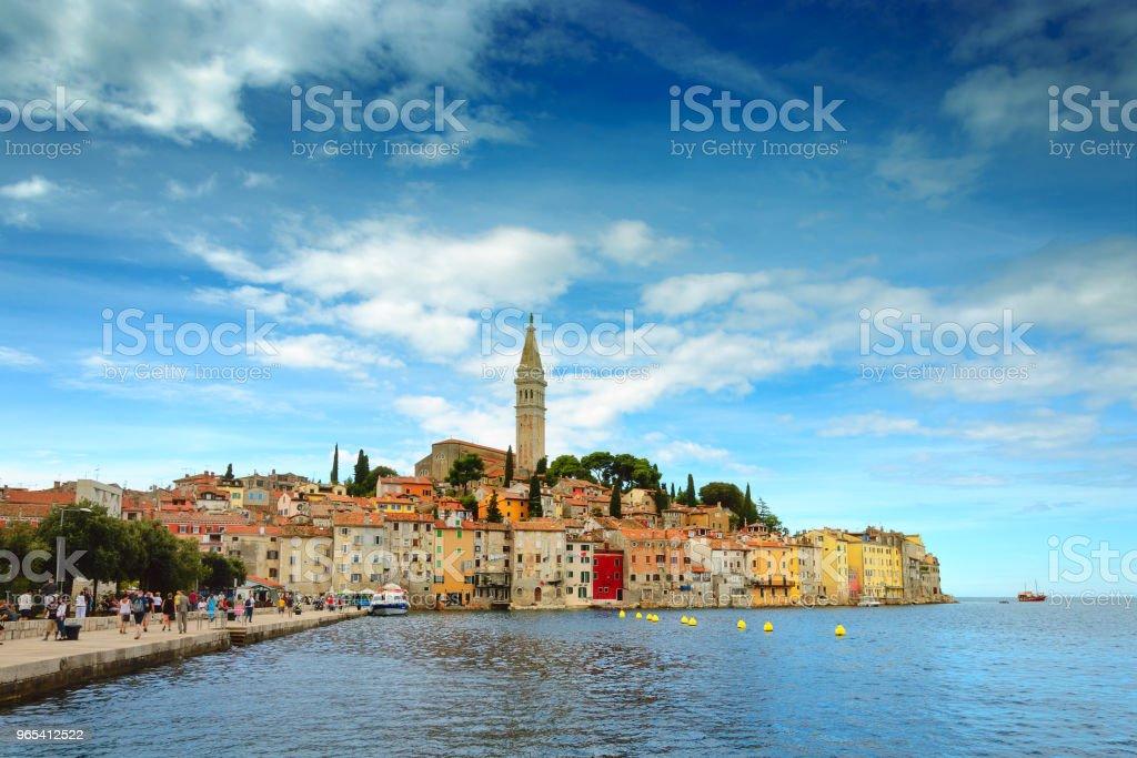Old town of Rovinj, Istria region, Croatia zbiór zdjęć royalty-free
