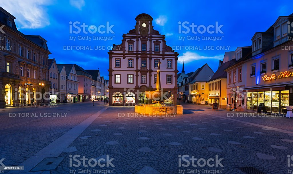 Old town of Speyer, German stock photo