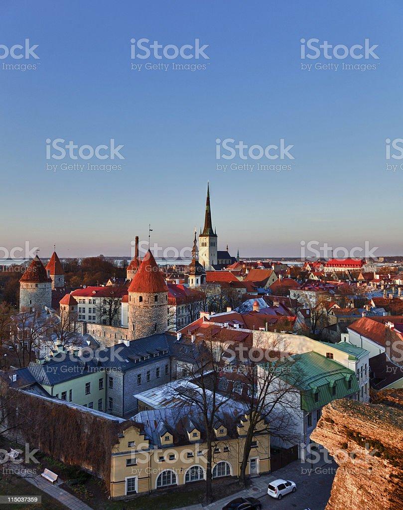 Old town of Tallinn Estonia royalty-free stock photo