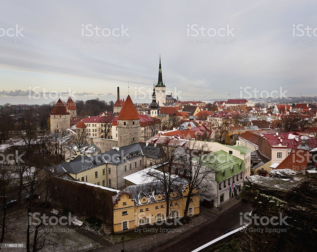 Old town of Tallinn royalty-free stock photo