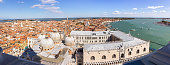 Old town of Venice. Panoramic view from the bell tower Campanile di San Marco in Verona, Italy