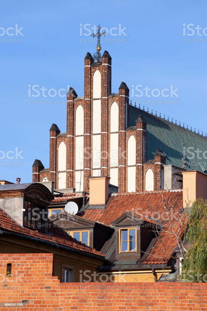 Old Town of Warsaw stock photo