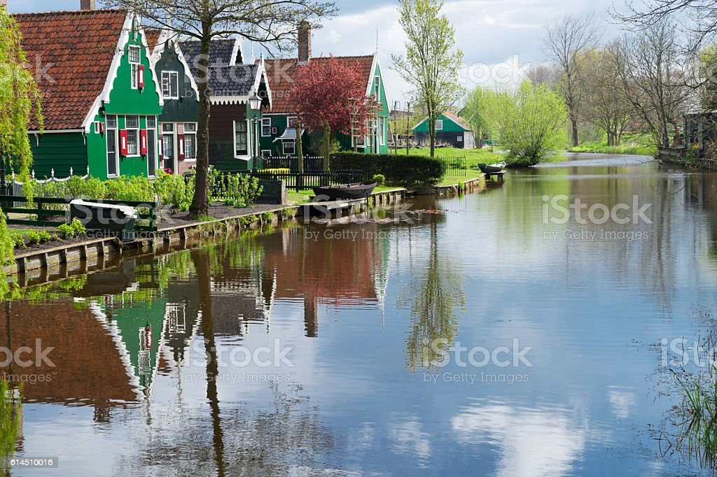 old town of Zaanse Schans, Netherlands stock photo