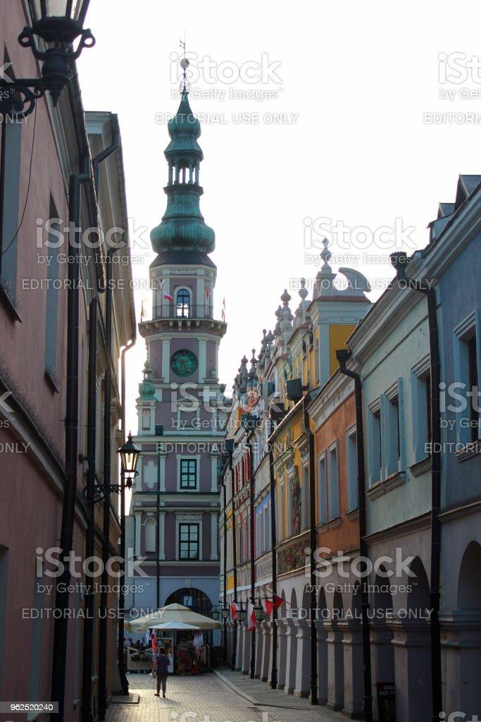 Cidade antiga de Zamosc, Polônia - Foto de stock de Antigo royalty-free