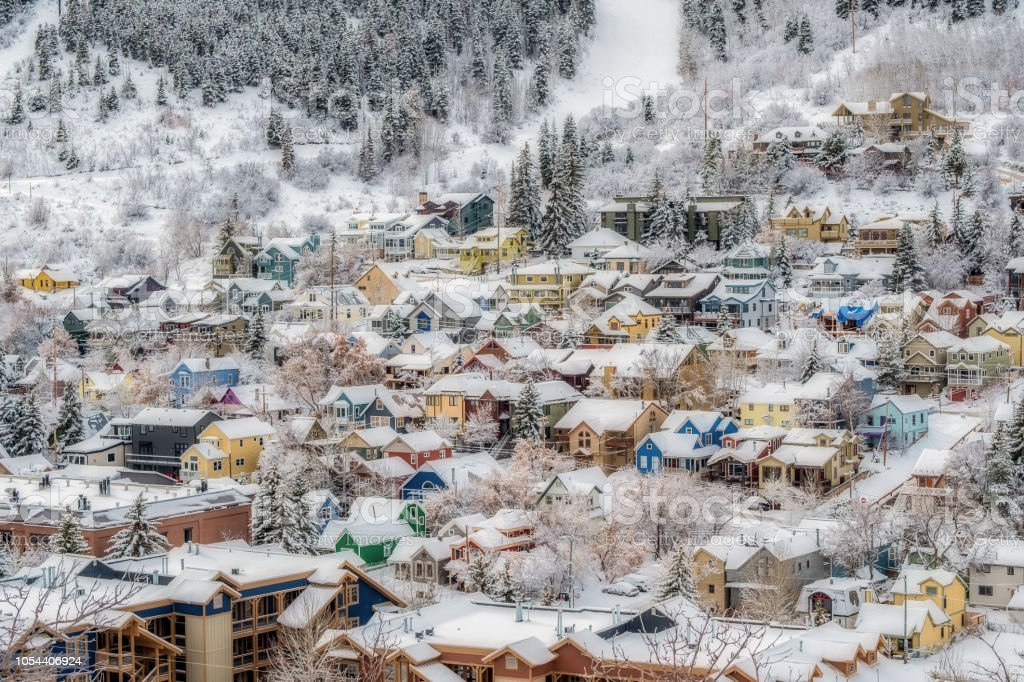 Old Town Park City stock photo