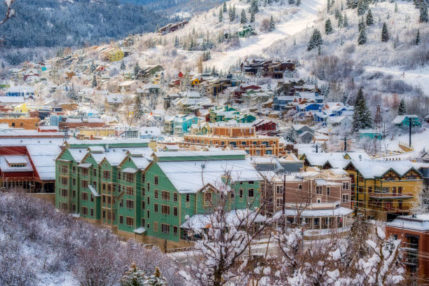 old town park city - utah stock photos and pictures