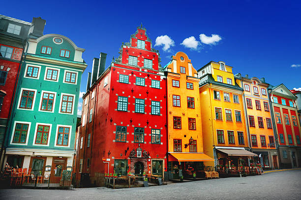 Old town Stortorget place in Gamla stan, Stockholm stockholm stock pictures, royalty-free photos & images
