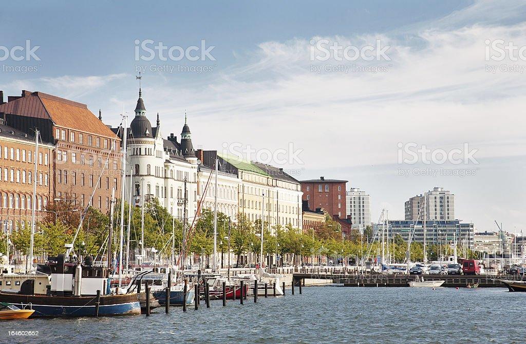 Old Town pier in Helsinki, Finland. stock photo
