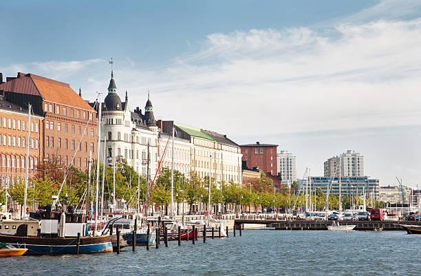 Altstadt von pier in Helsinki, Finnland. – Foto