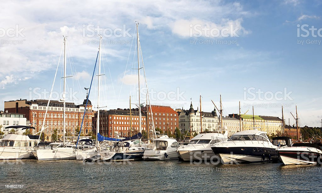 Old Town pier in Helsinki, Finland royalty-free stock photo