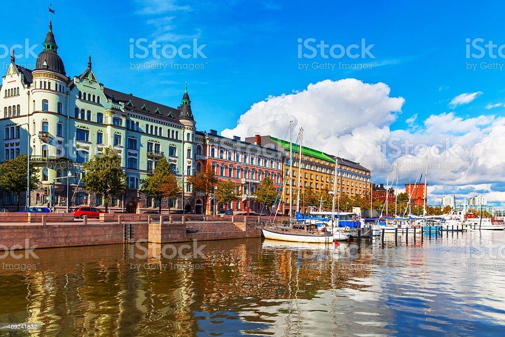 Old Town pier in Helsinki, Finland stock photo