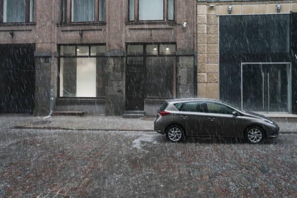 Altstadt Riga bei Regen – Foto