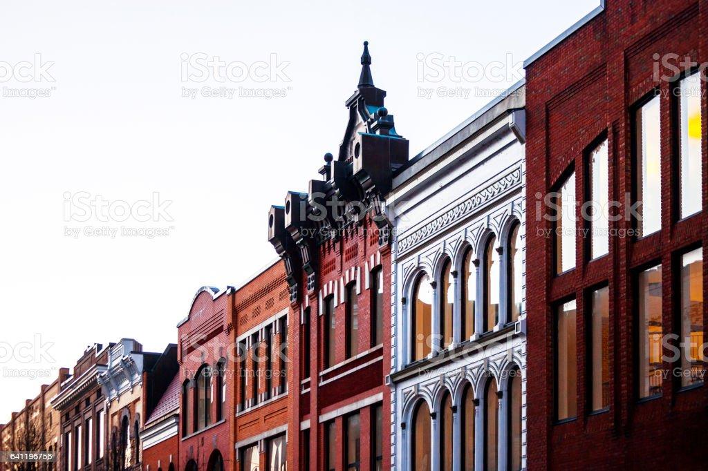 Old town. Roanoke, Virginia. stock photo
