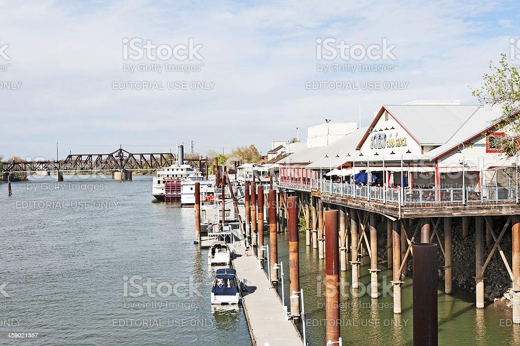 Old Town Sacramento Waterfront royalty-free stock photo