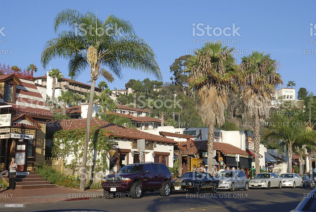 Old Town San Diego shops stock photo