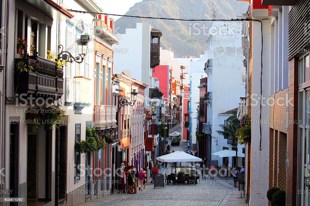 Old Town, Santa Cruz, La Palma stock photo