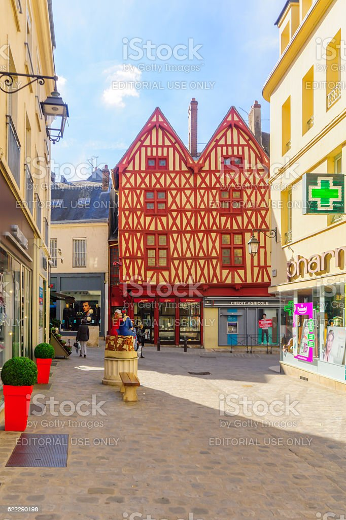 Old town scene in Auxerre - Photo